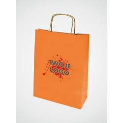 Torba papierowa w kolorze orange