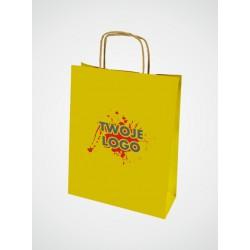 torba papierowa w kolorze żółtym