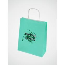 Torba papierowa w kolorze zielonym pastelowym